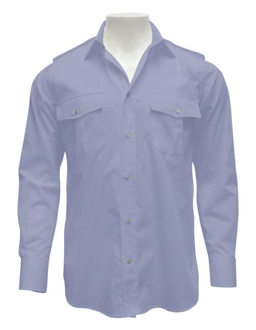 camicia militare celeste uomo