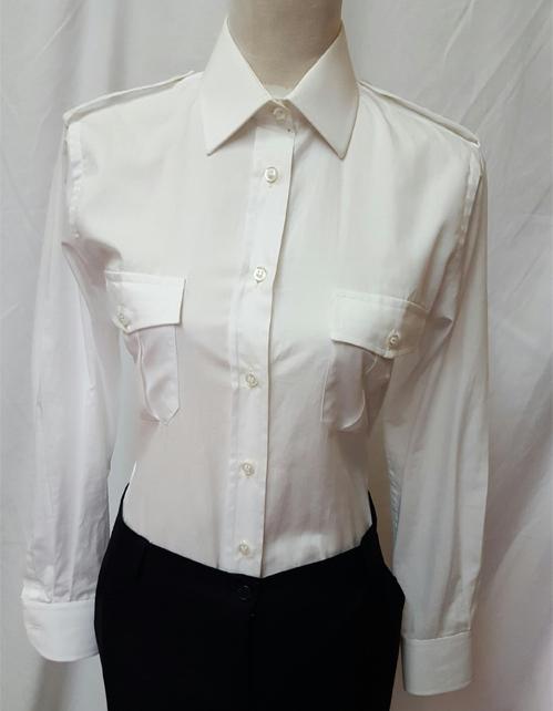 camicia militare donna bianca