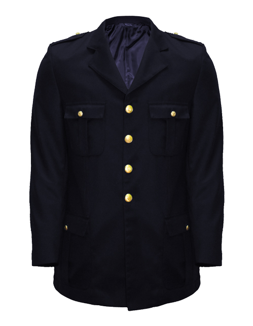 giacca militare uomo blu