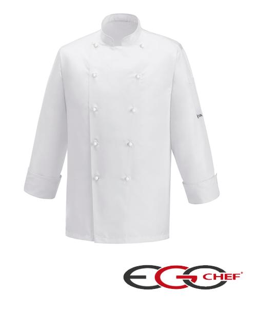 Giacca cuoco White Ice Ego Chef 100% microfibbra. Doppio petto e chiusura con bottoni a funghetto.