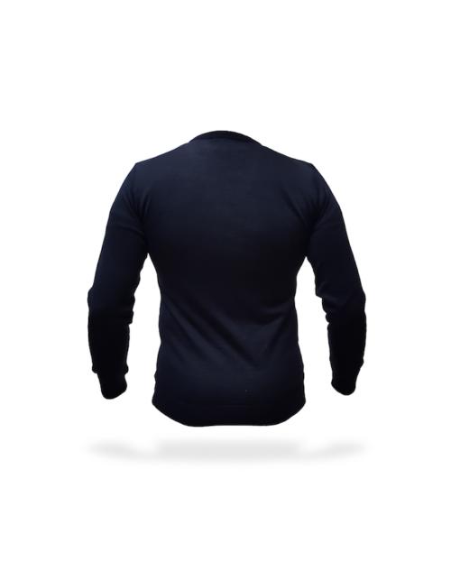 maglia sottogiacca uomo blu retro