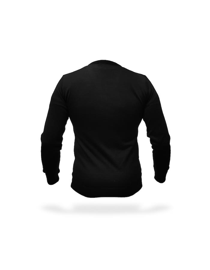 maglia sottogiacca uomo nera retro