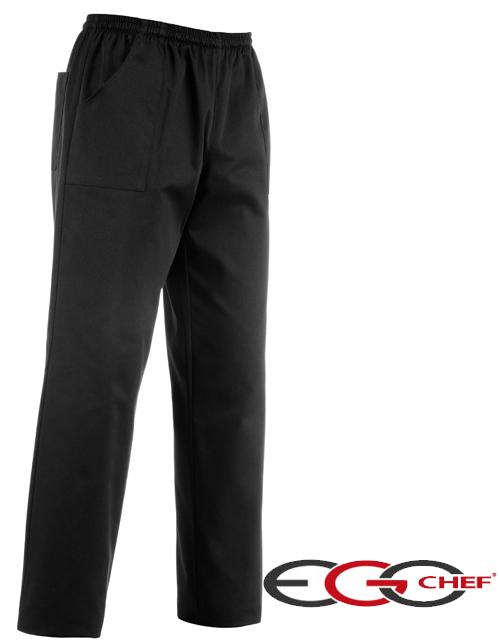 Pantalone Cuoco Black della linea Ego Chef. Composizione: 65% cotone - 35% poliestere