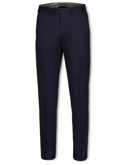 Pantalone uomo in vigogna peso 360 gr. Modello senza pence made in Italy con due tasche america sul davanti e una tasca a filetto dietro.