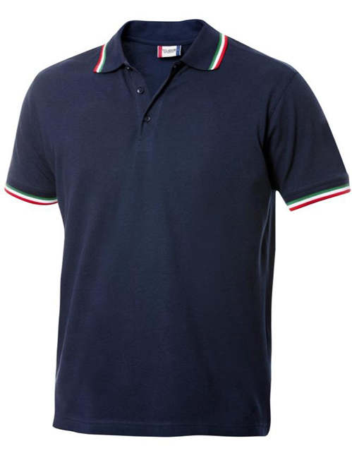 polo colletto tricolore