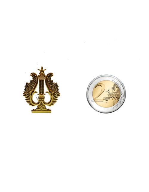 cetra oro piccola misura 3 cm per decoro divise bande musicali