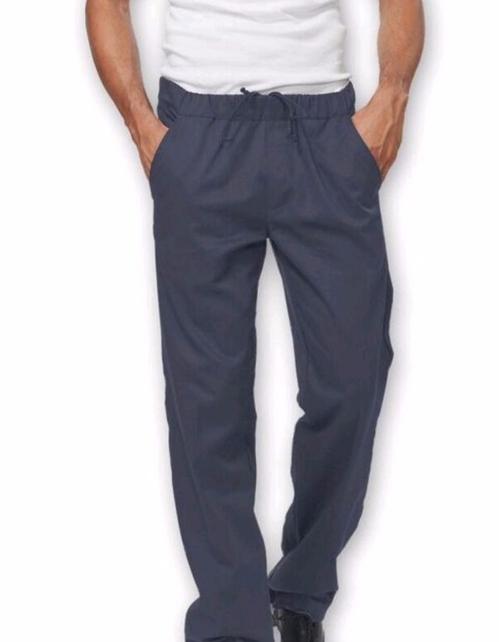 Pantalone Josh uomo Siggi colore grigio 100% cotone drill sanfor 190 grammi. Pantaloni con coulisse e elastico in vita, due tasche frontali e una posteriore. Lavaggio: 40°/ 70°