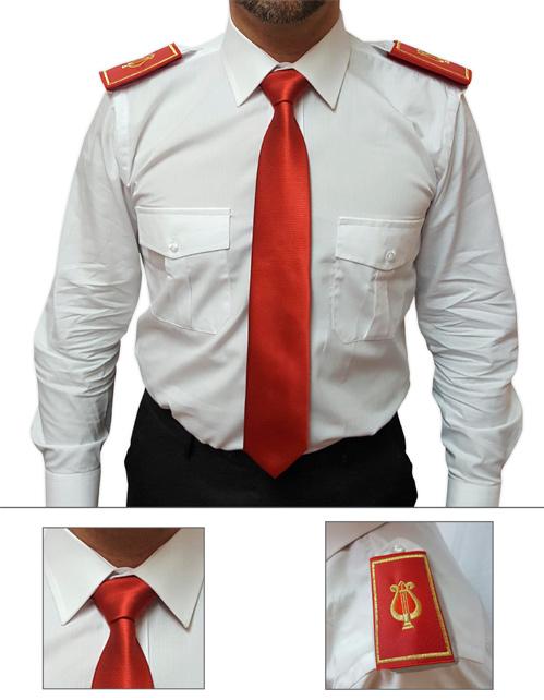 Offerta cravatta e tubolare colore rosso