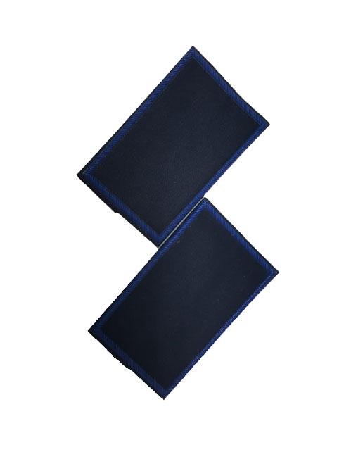 Tubolari Guardia Giurata in pvc colore blu con bordo di colore azzurro
