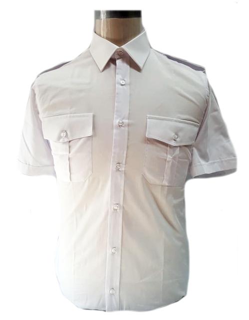 Camicia militare bianca da uomo manica corta