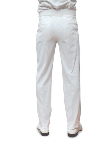 pantalone marina militare bianco in cotone retro