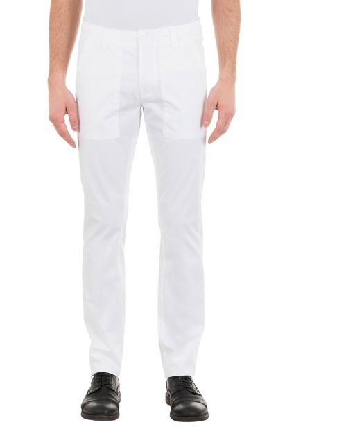 pantalone marina militare bianco in cotone