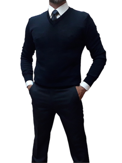 Divisa completa vigilanza autolinee camicia bianca cravatta blu