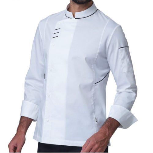 Elegante giacca da cuoco Siggi bianca